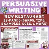 Persuasive Writing New Restaurant