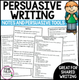 Persuasive Writing Notes - Sentence Starters and Tools