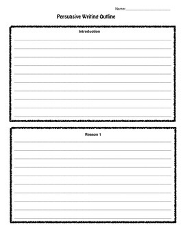 Persuasive Writing Outline-Extended