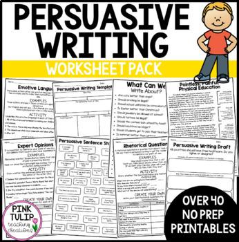 Persuasive Writing Pack, Lesson Ideas
