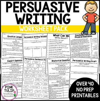 Persuasive Writing Pack, Lesson Ideas