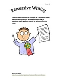 Persuasive Writing Package