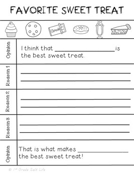 Persuasive Writing Packet l Opinion Writing
