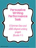 Persuasive Writing Performance Task