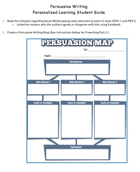 Persuasive Writing Personalized Learning Student Guide