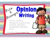Opinion Writing Pick a Prompt (common core aligned)