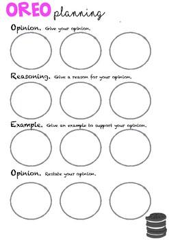 Persuasive Writing Planning Organiser