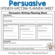 Persuasive Writing Planning Sheet