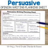 Persuasive Opinion Writing Planning Sheet
