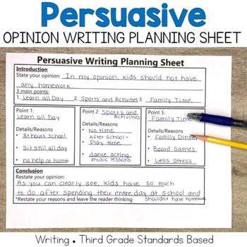 Persuasive Writing Planning Sheet
