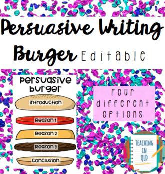 Persuasive Burger Poster EDITABLE