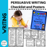 Persuasive Writing Posters & Checklist for Grades 1-2