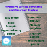 Persuasive Writing Posters, Prompts, Planning template and more!