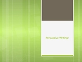 Persuasive Writing: PowerPoint Introduction