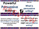 Persuasive Writing PowerPoint and Activities