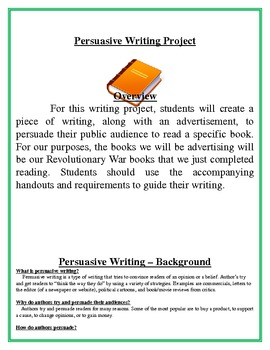 persuasive writing project book advertisement essay common  persuasive writing project book advertisement essay common core aligned