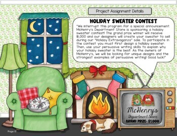 Persuasive Writing Project {Holiday Theme}