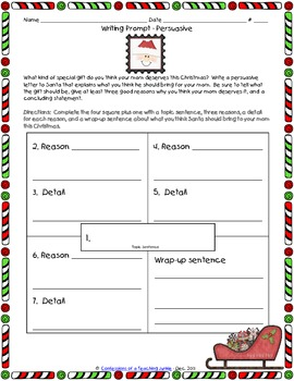 Persuasive Writing Prompt - Dear Santa