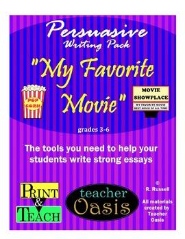 "Persuasive Writing Prompt ""My Favorite Movie"""