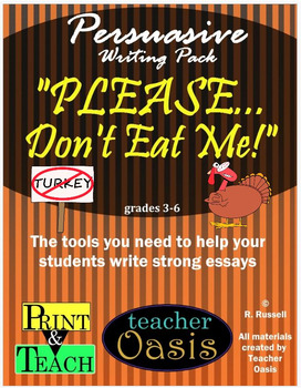 """Persuasive Writing Prompt """"Please Don't Eat Me!"""""""