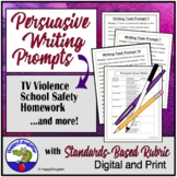 Persuasive Writing Prompts with Essay Rubric