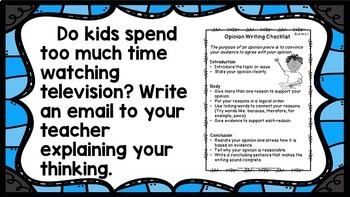 Write Every Day! Persuasive Writing Prompts 3rd Grade