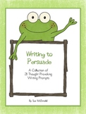Persuasive Writing Prompts Bundle – 21 Prompts on Cute Stationary