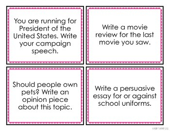 Free Persuasive Writing Prompts By Blair Turner  Tpt Persuasive Writing Prompts