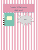 Persuasive Writing Prompts & Outline Format for Middle School
