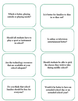 Persuasive Writing Prompts for Journal Writing or Essays S