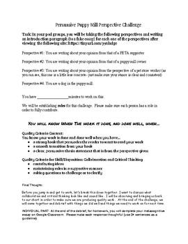 Persuasive Writing: Puppy Mill Challenge