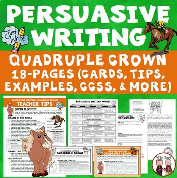 Persuasive Writing: Race Track Theme (Aligned to Common Core)