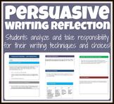 Persuasive & Argumentative Writing Growth Mindset Unit Reflection