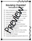Persuasive Writing Revising Checklist