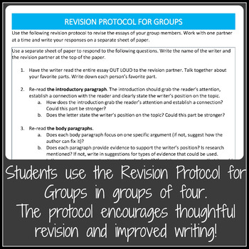 Persuasive Writing Revision Activities With Lesson Plans and Minilessons