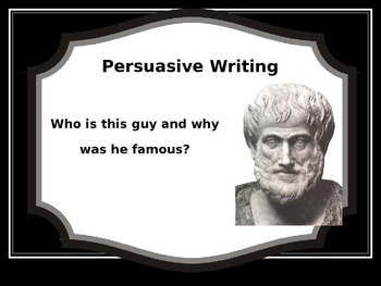 Persuasive Writing Rhetoric Presentation