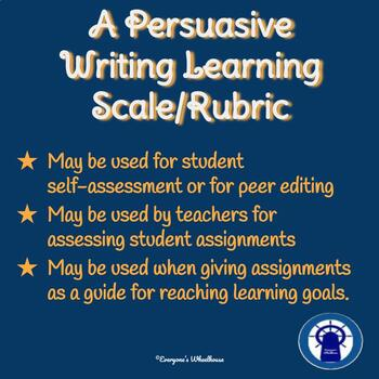 Persuasive Writing Rubric/Learning Scale