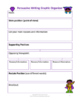 Persuasive Writing Rubrics & Graphic Organizers for Grades 2nd - 12th