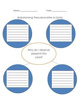 Persuasive Writing: Santa Letter
