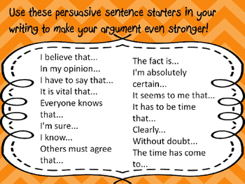how to write a persuasive essay sentence structure
