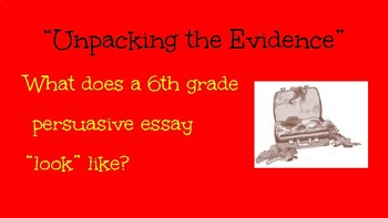 Persuasive Writing Slideshow