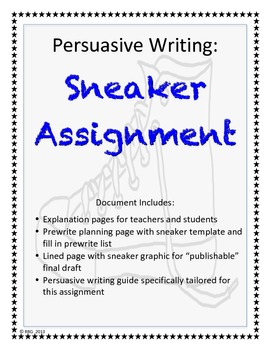 Persuasive Writing: Sneaker Assignment