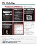Persuasive Writing - Speeches