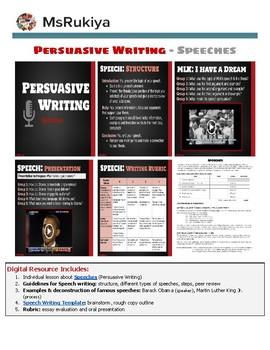 Persuasive Writing - Speeches