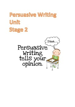 Persuasive Writing - Stage