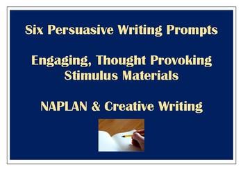 Persuasive Writing Stimulus Prompts NAPLAN