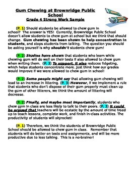 Persuasive Writing Strong Work Sample
