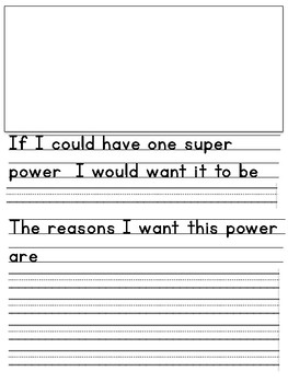 Persuasive Writing - Super powers