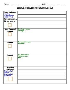 Persuasive Writing Supply Pack