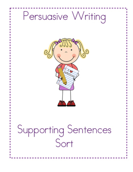 Persuasive Writing - Supporting Reasons